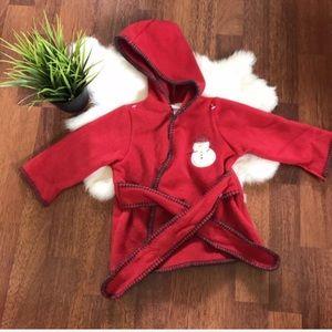 Carter's Unisex Bath Suit 9 Months Red Hoodie Logo